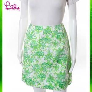 LILLY PULITZER Chic Green/Wht Abstract ALine Skirt